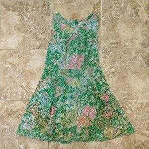 Maeve green, pink, yellow w/white dress Sz 10